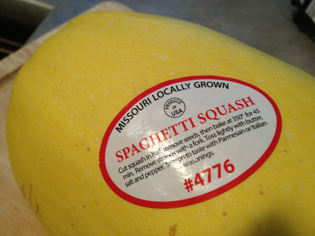 directions on sticker that came with spaghetti squash