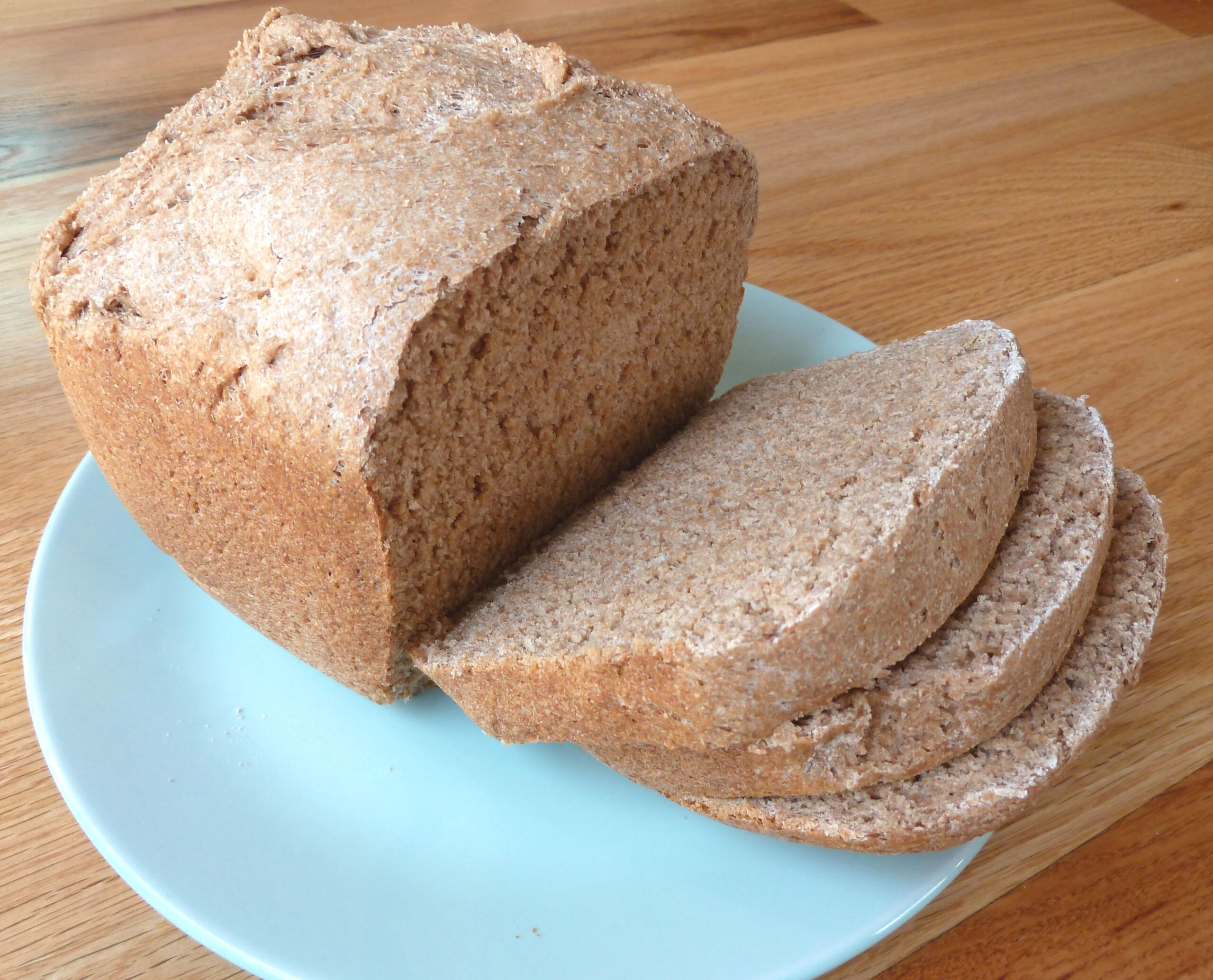 homemade whole wheat bread sliced