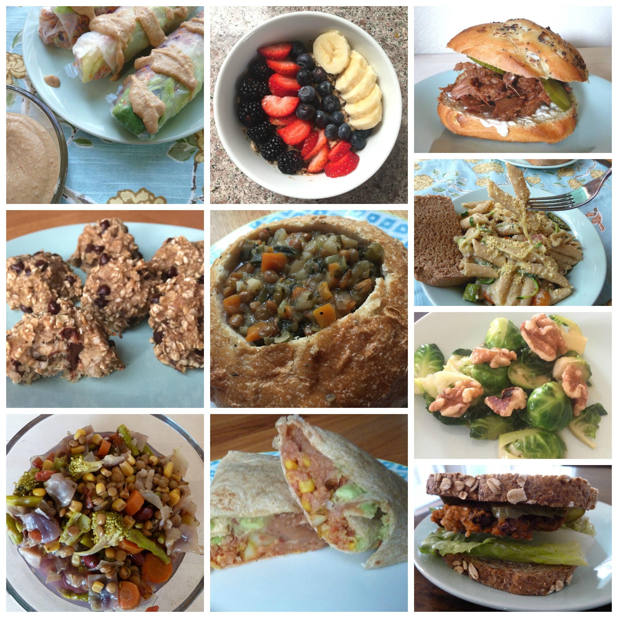 Vegan Food Collage