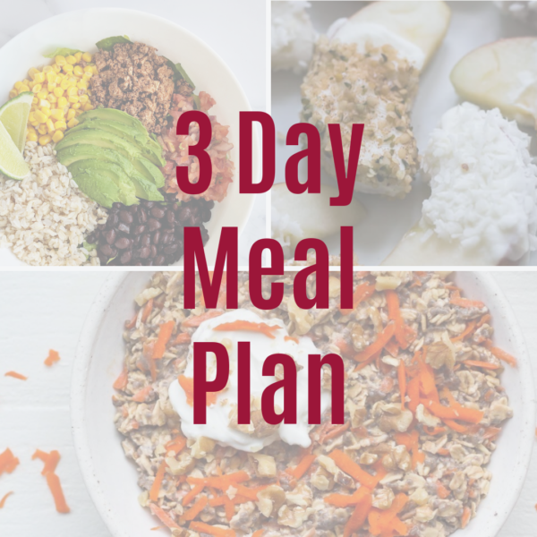 3 Day Meal Plan