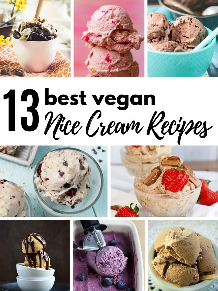 You can make vegan ice cream at home that's both healthy and delicious. It's easy with only a few simple ingredients and a blender. Here are 13 of the BEST vegan ice cream (nice cream) recipes that you're going to want to try ASAP. #veganicecream #nicecream #banananicecream #vegandessert #healthydessert #plantbaseddessert