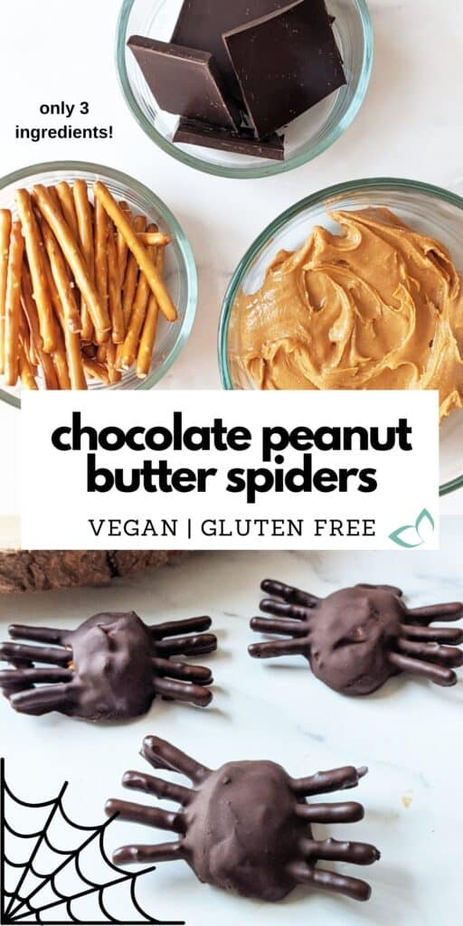 These are the EASIEST spookiest treat for halloween! All you need are 3 simple ingredients and 10 minutes to prepare. Enjoy this perfect vegan treat to bring to a Halloween party. It's vegan, gluten-free, oil-free, and no added sugar. Super simple and great as dessert or snack for your Halloween party. #veganhalloween #easyhalloweentreat #halloweendessertrecipe #glutenfreedessert #veganhalloweendessert