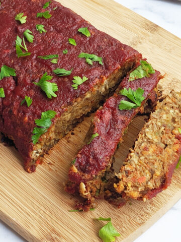 Easy Gluten Free Vegan Lentil Loaf Recipe