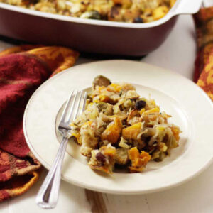 Butternut Squash Brussels Sprouts Stuffing