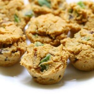 mini vegan chickpea flour frittata bites
