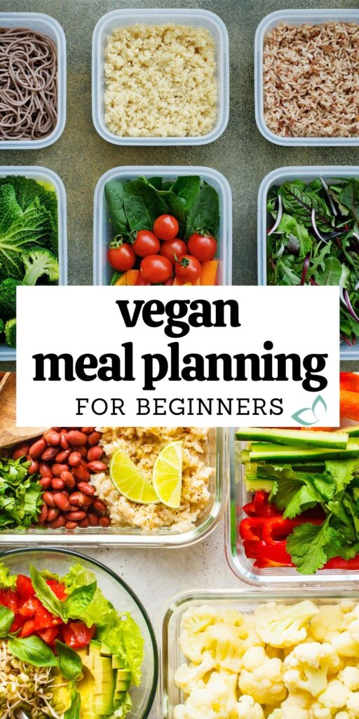 Get started with vegan meal planning! Grab the Free meal planning printables. Weekly Meal Plan, Grocery List and an easy meal prep recipe! Reduce your food budget, save time and save money while enjoying a healthy vegan diet. Vegan Meal Planning for Beginners | how to start meal planning | meal planning printables | plant based meal plans | weekly vegan meal plan