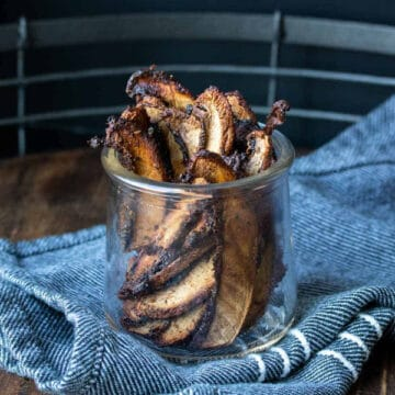 mushroom bacon in a glass jar