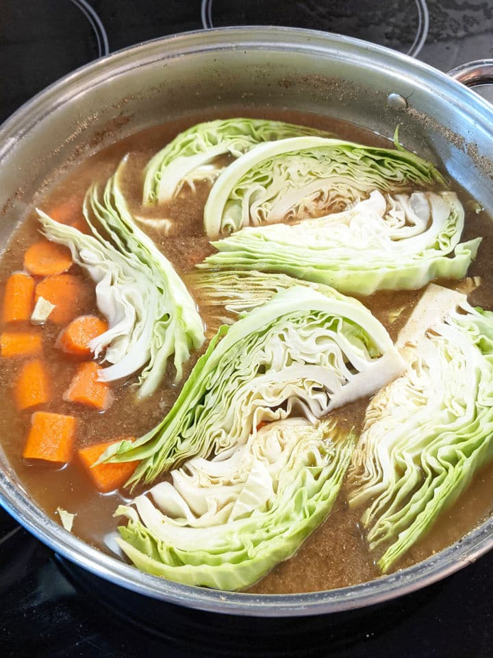 carrots and cabbage in brine