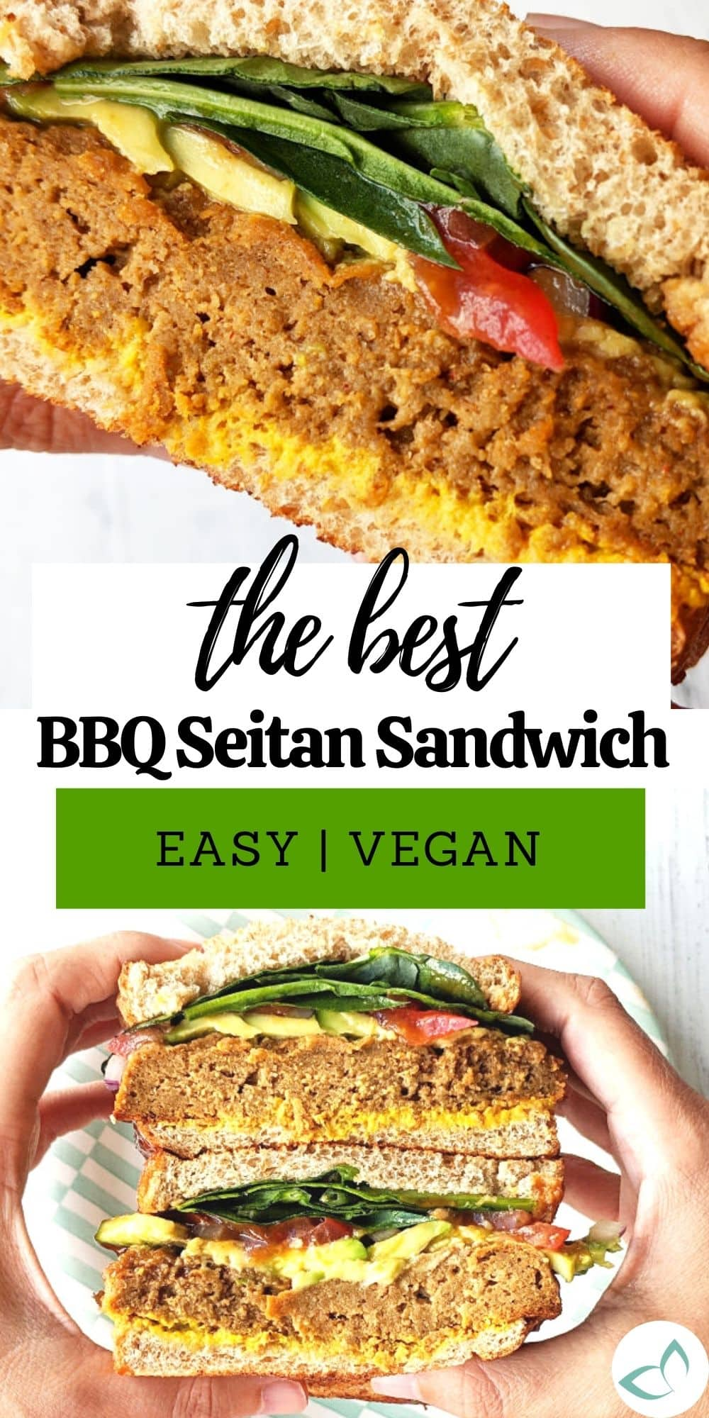 Want a meaty sandwich without the meat? This epic sandwich is going to blow your mind! Seitan (vital wheat gluten) gives it a meat-like texture that satisfies and boasts a whopping 46 grams of protein!