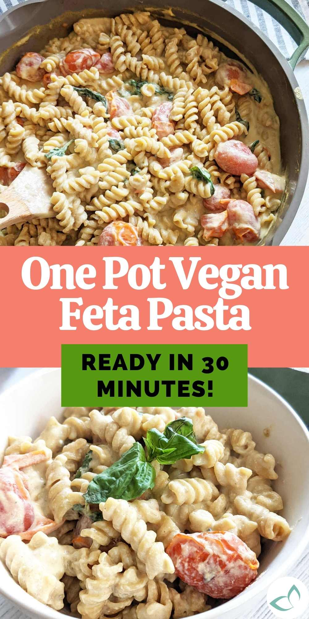 One pot vegan feta pasta is an adaption from the viral baked feta pasta. Make in one pot in less time for the same great flavor!